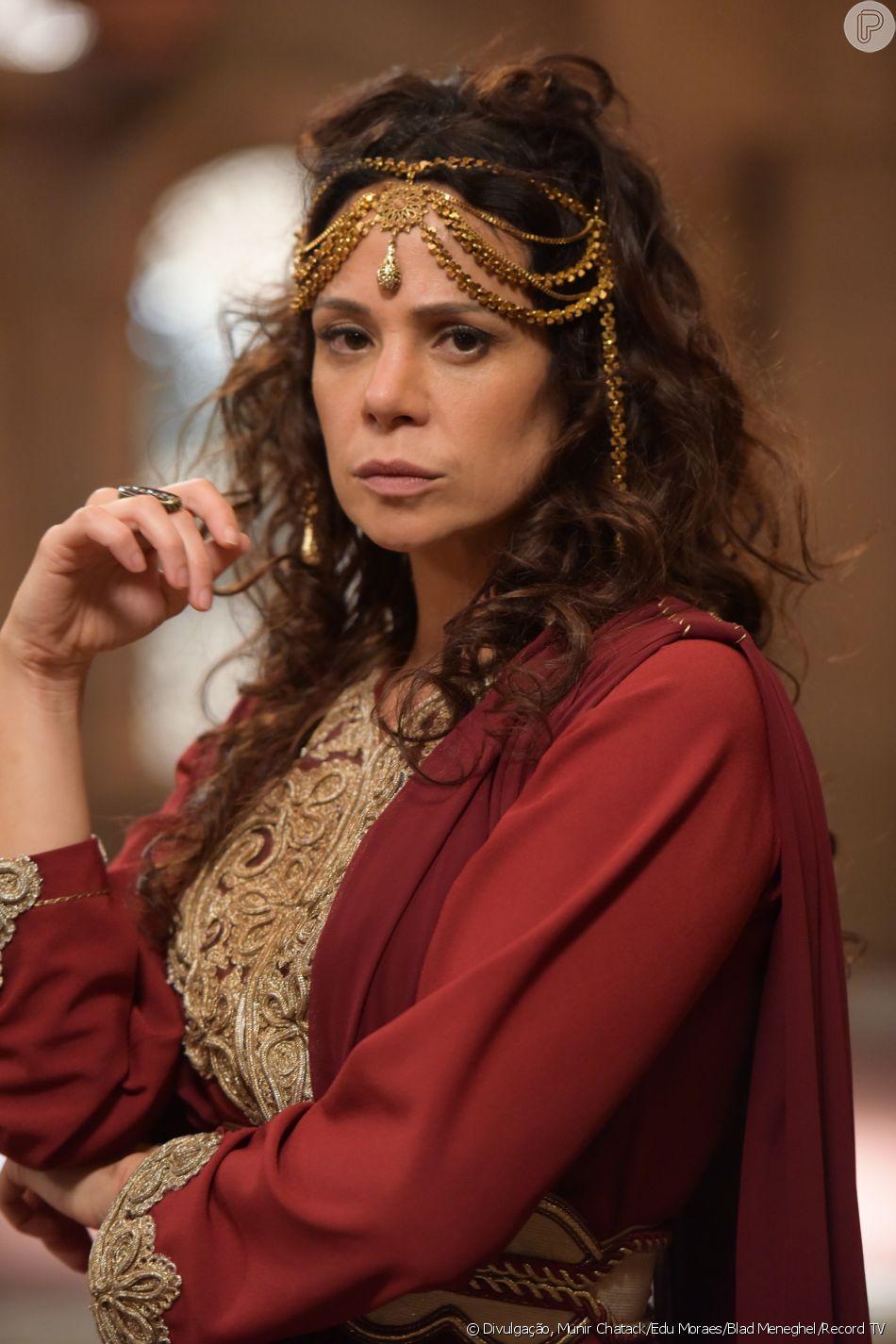 Herodíade (Vanessa Gerbelli) quer a morte de João Batista (Iano Salomão), no capítulo de quinta-feira, 9 de agosto de 2018, da novela 'Jesus'