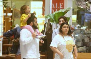 Acompanhada do marido, Preta Gil reúne família em passeio no shopping. Fotos!