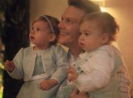 Michel Teló toca violão com os filhos, Melinda e Teodoro: 'Violada'. Vídeo!