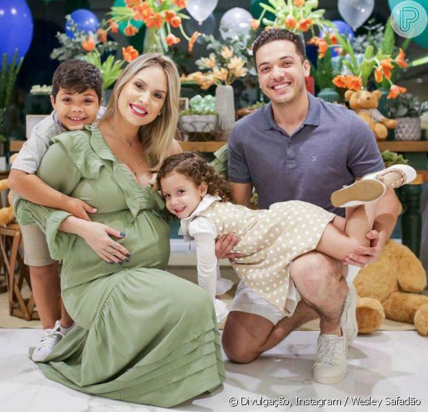 Wesley Safadão e Thyane Dantas fizeram chá de fraldas para o segundo filho do casal nesta terça-feira, 14 de agosto de 2018