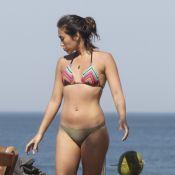 Daniele Suzuki se bronzeia e mostra boa forma em praia do Rio de Janeiro