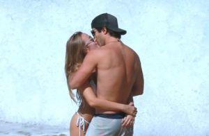 Juliano Laham troca beijos com namorada, Luana Loewe, em dia de praia. Fotos!
