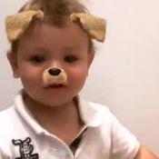 Andressa Suita mostra o filho Gabriel imitando cachorrinho: 'Au au'. Vídeo!