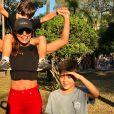 Juliana Paes sempre divide a rotina com os filhos nas redes sociais