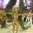Viviane Araujo deu vida a uma rainha egípcia no Carnaval 2018 do Salgueiro, que trouxe como enredo 'Senhoras do Ventre do Mundo', exaltando as grandes matriarcas negras da história