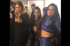 Marília Mendonça dança funk com Maiara e Maraisa em bastidor de show. Vídeo!