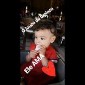 Sheron Menezzes mostra o filho, Benjamin, comendo tapioca: 'Ele ama'. Vídeo!