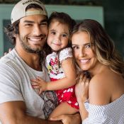 Hugo Moura prioriza levar a filha, Maria Flor, à escola: 'Um momento só nosso'