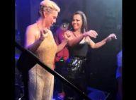 Regiane Alves samba com Viviane Araujo em seu aniversário de 40 anos. Vídeo!