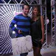 Marcelo Serrado e a mulher, Roberta, curtiram a festa de Preta Gil