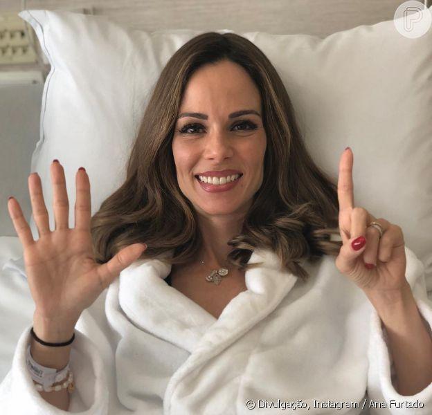 Ana Furtado passou pela última sessão de quimioterapia nesta quarta-feira, 5 de setembro de 2018