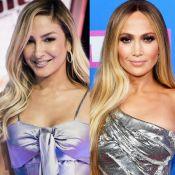 Claudia Leitte surge de franja e é comparada à Jennifer Lopez em foto: 'Clone'