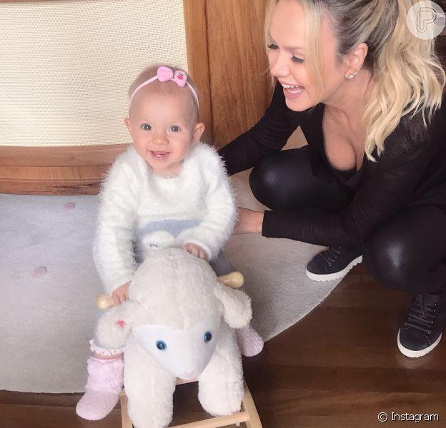 Eliana comemorou o primeiro aniversário da filha, Eliana, nesta segunda-feira, 10 de setembro de 2018