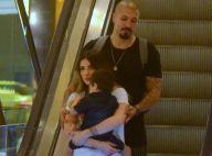Aline Gotschalg e Fernando Medeiros levam filho para passeio no shopping. Fotos!