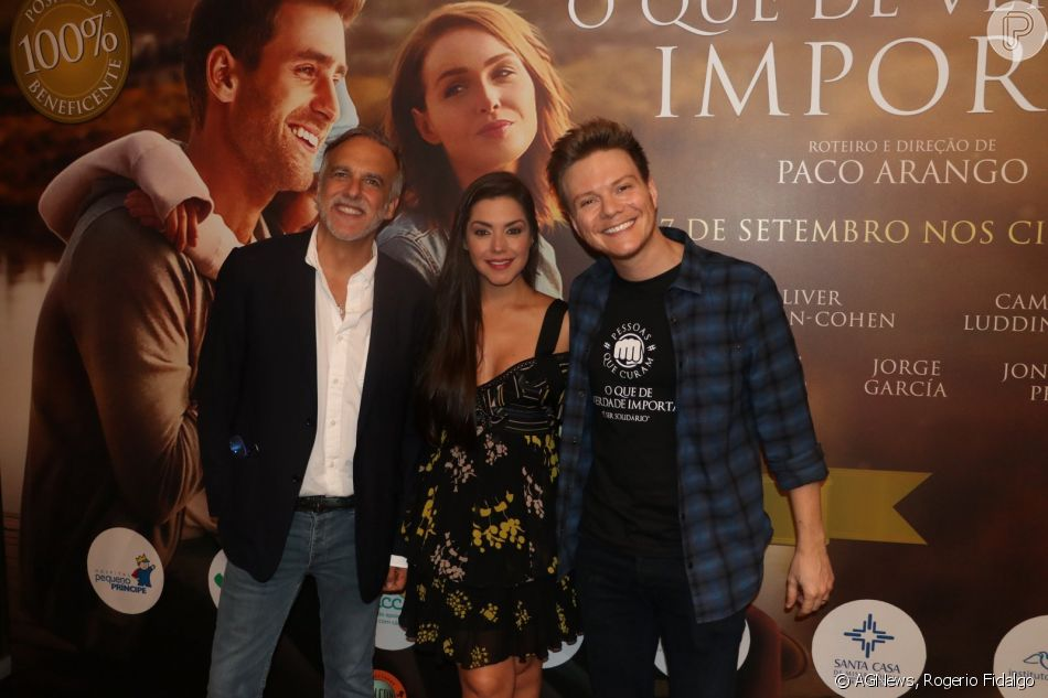 Thais Fersoza e Michel Teló conferiram a pré-estreia do filme 'O Que de Verdade Importa', no Rio, nesta quarta-feira, 19 de setembro de 2018