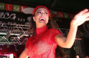 Juliana Paes arrasa em look vermelho transparente na festa da Grande Rio. Fotos!