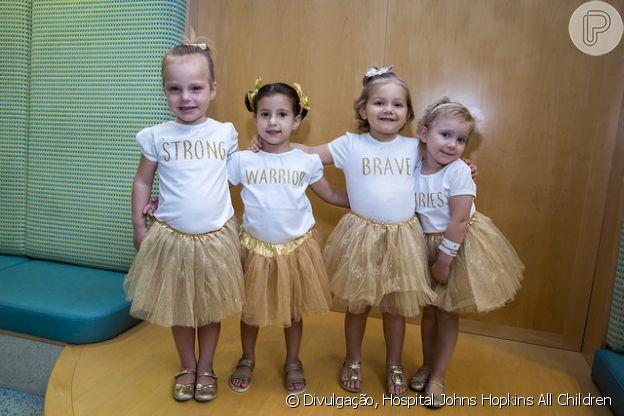 Em 2017, Chloe, Lauren, McKinley e Avalynn se uniram novamente para mais um ensaio no Hospital Johns Hopkins All Children