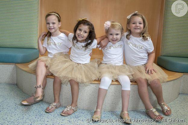 Chloe, Lauren, McKinley e Avalynn comemoraram a cura em 2018