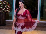 Zezé Di Camargo canta para Graciele Lacerda em festa a fantasia da mulher. Vídeo