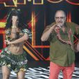 No último domingo, Aline Riscado e Luiz Carlos Miele foram para a repescagem no quadro 'Dança dos Famosos'