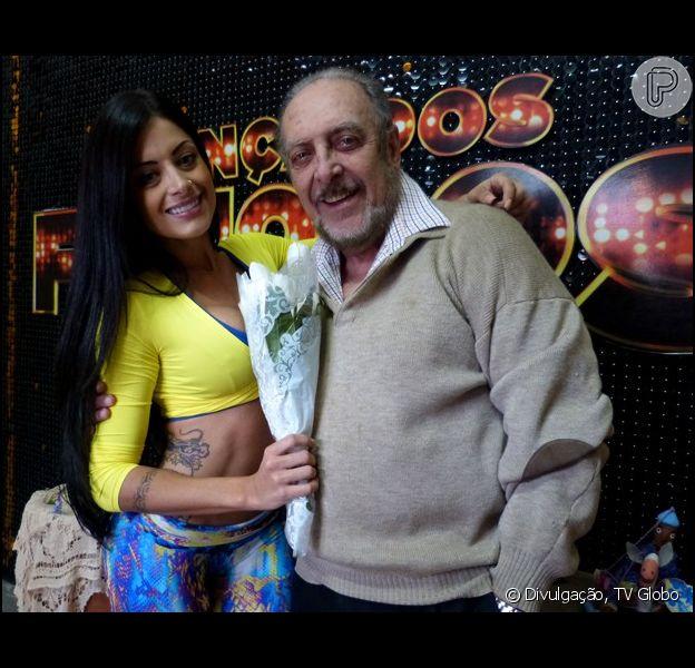 Aline Riscado participa do quadro 'Dança dos Famosos' ao lado de Luiz Carlos Miele