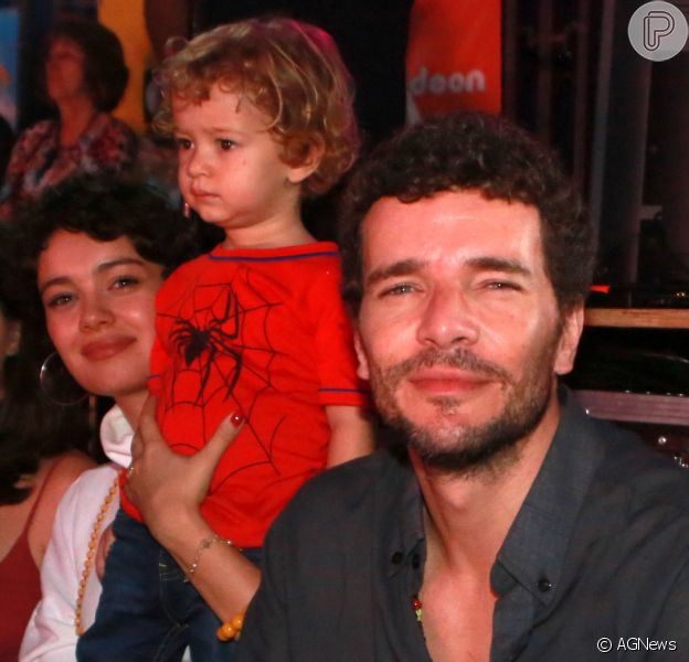 Sophie Charlotte e Daniel de Oliveira levaram o filho, Otto, ao circo nesta sexta-feira, 12 de outubro de 2018