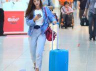 Chunky sneakers e jeans: o estilo da atriz Giovanna Lancellotti ao viajar. Foto!