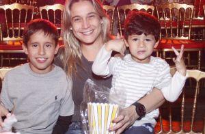 Fernanda Gentil conta que o filho, Gabriel, tem veia artística: 'É de se exibir'