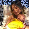 Andressa Suita é mãe de Samuel, de 2 meses, fruto do casamento com Gusttavo Lima