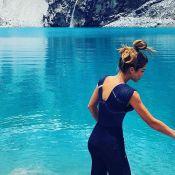 Grazi Massafera mergulha em lago gelado durante viagem ao Peru: 'Histérica'