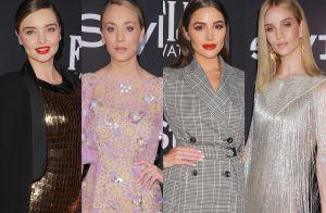 Maquiagem colorida e vestidos longos predominam nos looks do InStyle 2018. Fotos