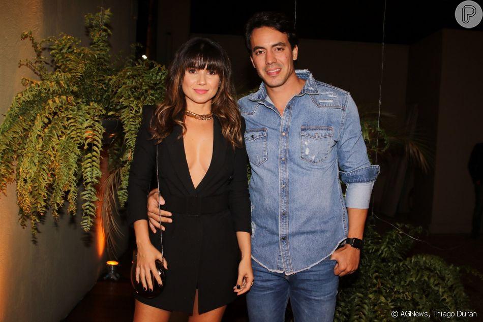 Paula Fernandes fez a primeira aparição com o novo namorado, o empresário Gustavo Lyra, nesta terça-feira, 23 de outubro de 2018