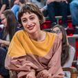 Luísa Arraes acompanhou a colega da novela na conversa sobre política às vésperas da eleição