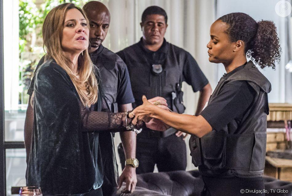 Laureta (Adriana Esteves) é presa na reta final de 'Segundo Sol'