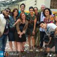 'A Grande Família': elenco do seriado encontrou com Fátima Bernardes nos bastidores do Projac