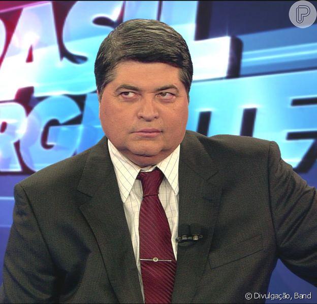 José Luiz Datena volta ao 'Brasil Urgente' e pede desculpas: 'Ajo pelo coração' (27 de agosto de 2014)