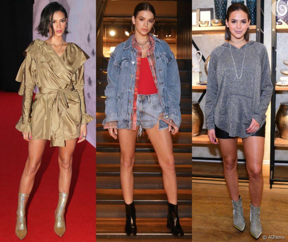 Bruna Marquezine é fã de botas! Veja 10 fotos de looks inspiradores da atriz