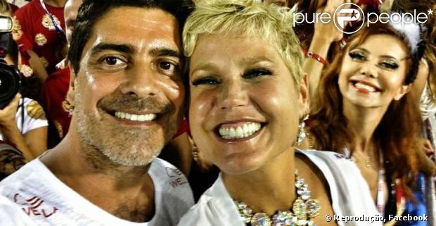 Junno Andrade posta foto com Xuxa no Facebook, em 12 de fevereiro de 2013