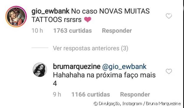 Bruna Marquezine mostra nova tatuagem