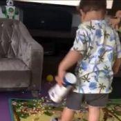 Filho mais velho de Gusttavo Lima mostra estilo ao brincar com cantor em vídeo