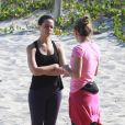 Vanessa Gerbelli recebeu orientações de sua personal trainer