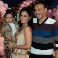Luciele di Camargo e o ex-jogador e atual comentarista esportivo Denilson se casaram em outubro de 2010, quando a atriz já estava grávida de Maria Eduarda, a primeira filha do casal