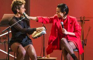 Nanda Costa e Lan Lahn apostam em looks cheios de informação de moda no Grammy