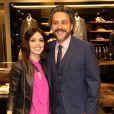 Alexandre Nero vai à evento do Vogue Fashion's Night Out com a namorada, Karen Brustolin, em shopping do Rio de Janeiro