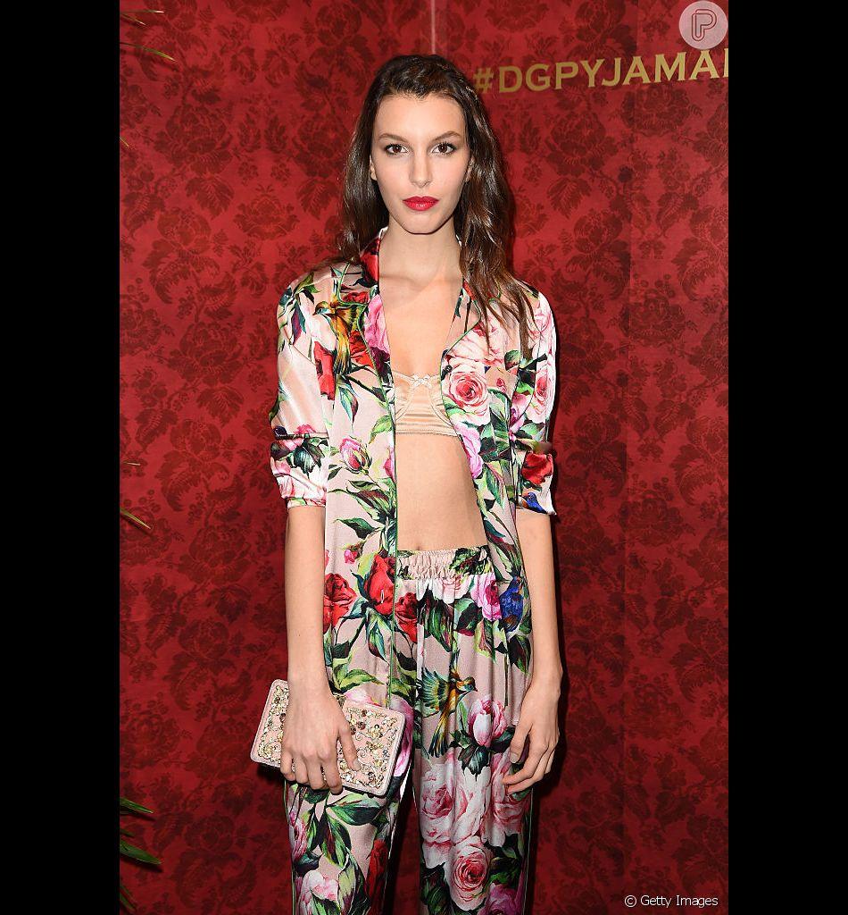 Conjuntinhos continuam na moda nas próximas temporadas. Pijama da Dolce & Gabbana já se tornou um clássico