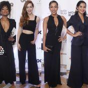 Pretinho nada básico: os looks das famosas na 8ª edição do prêmio 'GQ Brasil'