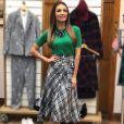 A estampa xadrez é fashion e já fez parte de um dos looks de Patrícia Poeta