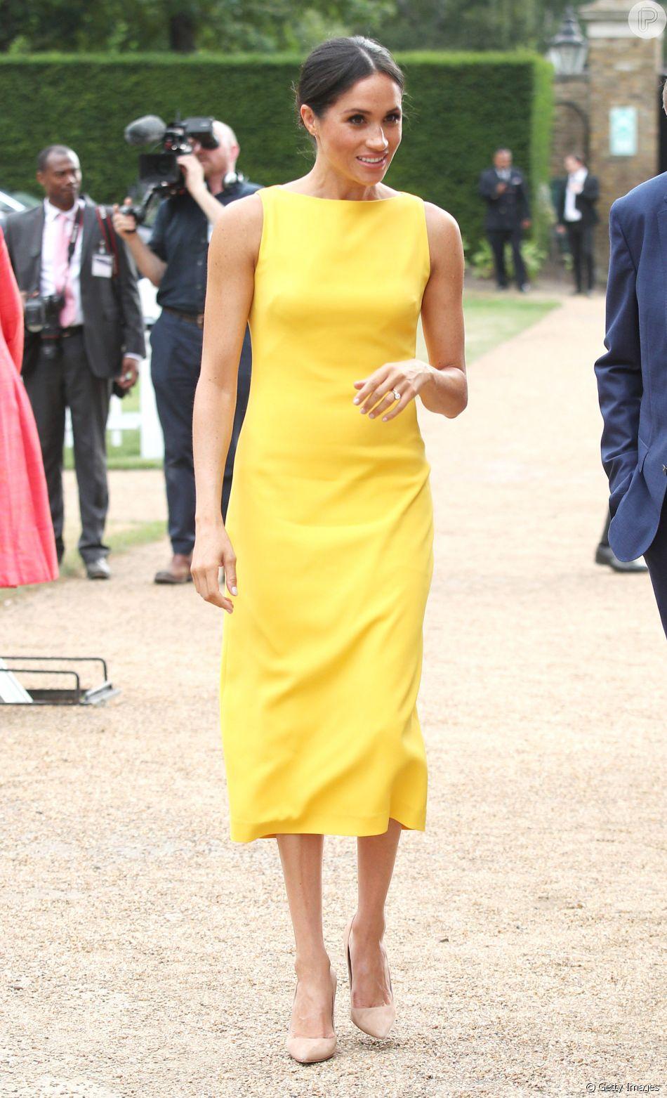 56965d1d7 A duquesa de Sussex participou de uma recepção na Marlborough House, em  Londres, com