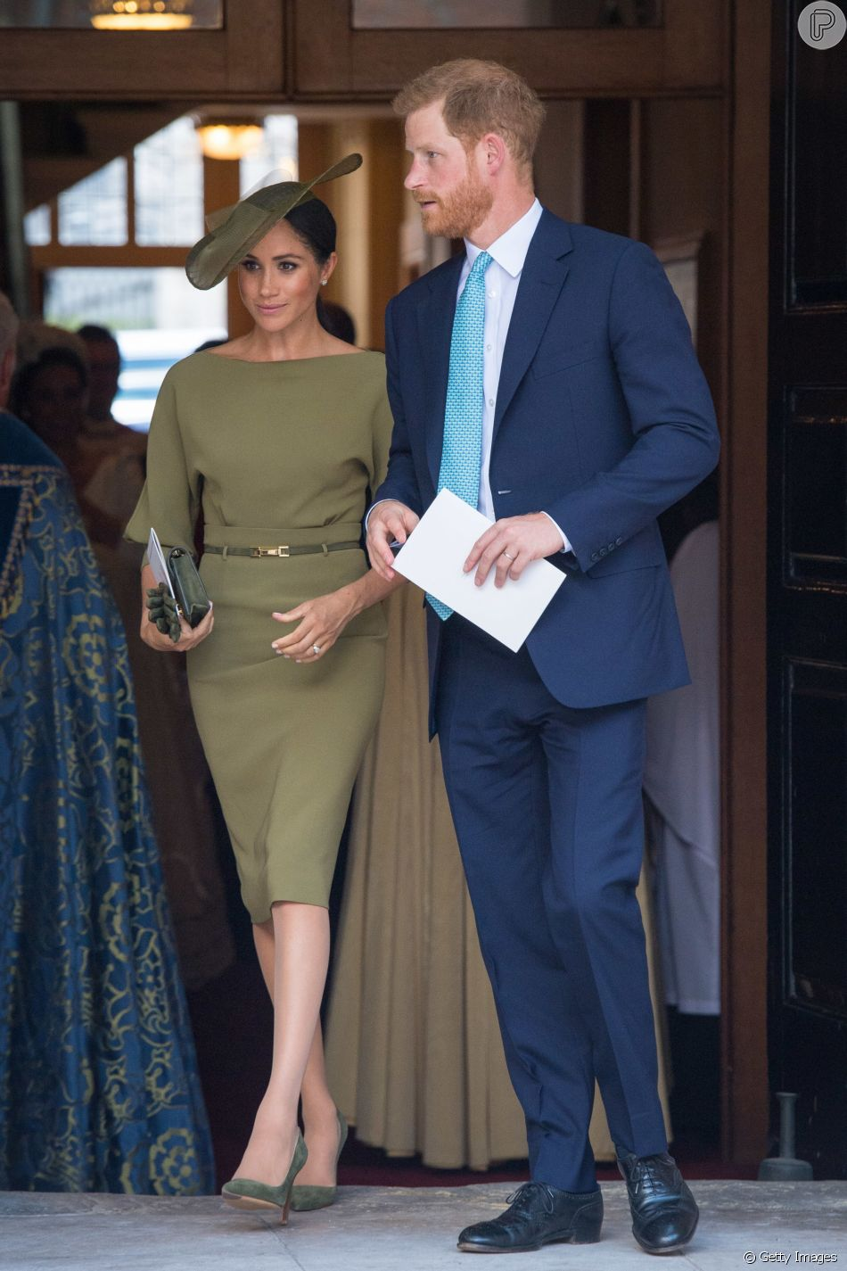 4a438babcc Para o batizado do terceiro filho de Príncipe William com Kate Middleton,  Meghan Markle optou