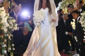 Nicole Bahls usa vestido de seda italiana ao se casar com Marcelo Bimbi. Fotos!